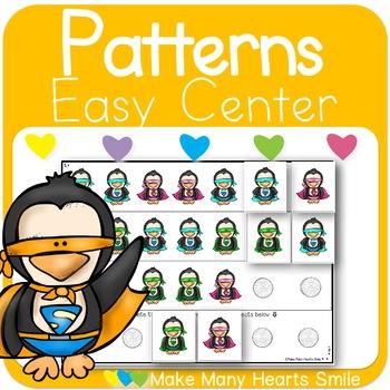 Repeating Patterns: Superhero Penguins