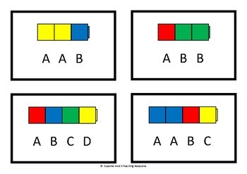 Repeating Patterns – cards, strips and activities.