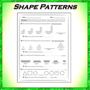 Repeating Shape Patterns Test