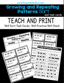 Repeating and Growing Pattern Sort and Task Cards