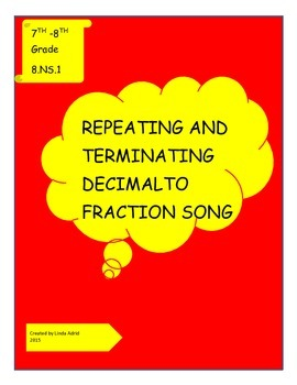 Repeating and Terminating Decimal to Fraction Song