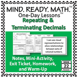 Repeating and Terminating Decimals Notes