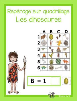 Repérage sur quadrillage (Les dinosaures)