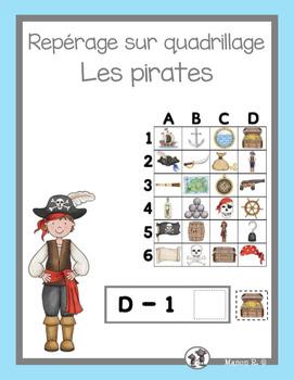 Repérage sur quadrillage (Les pirates)