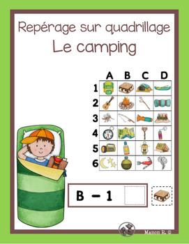 Repérage sur un quadrillage (Le camping)