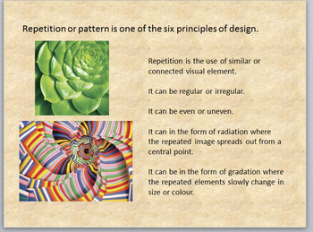 Elements and Principles of Design/Art: Repetition - Lesson and Review