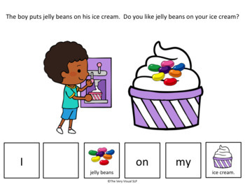 Adapted Book I Like/Don't Like Language Therapy Vocabulary SUMMER Ice Cream ESY