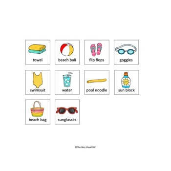 "Adapted Book ""I Want"" + SUMMER pool beach vocabulary Requesting Language ESY"