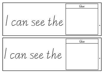 Repetitive Text - I can see the ______ - Booklet