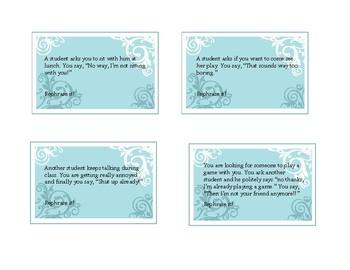 Rephrase It! Activity cards for social pragmatics