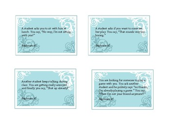 Rephrase It! Activity cards for social pragmatics