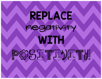 Replace Negative with Positive Posters