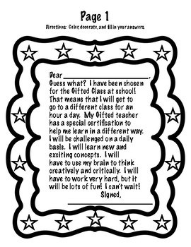 Replacement Page for Introduction to Gifted Packet