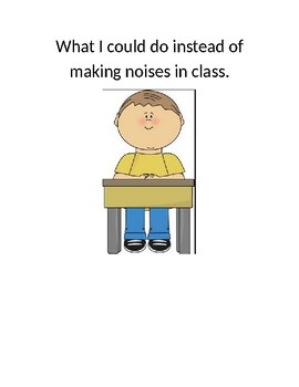 Replacement behavior for making noises in class social skills story