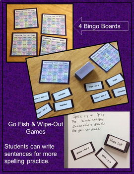 Replacing Final E: Suffixing with Word Sums Bingo, Go Fish, & Wipe-Out Games