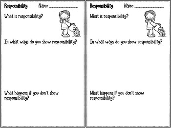 Reponsibility - Monthly Character Education Pack