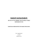 "Report: A proven ""parent invovlement"" strategy for today's"