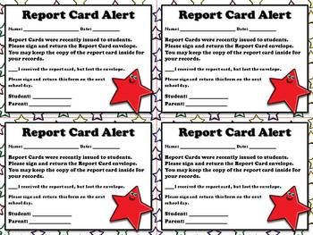 Report Card Alert - Note for Parents  - Superstar Theme - King Virtue