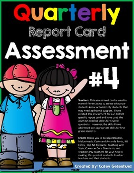 Report Card Assessment (Fourth Quarter)