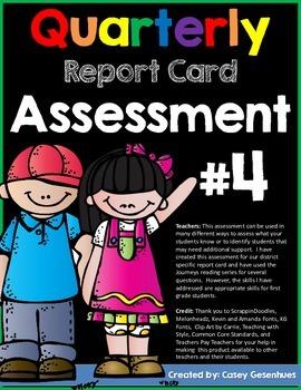 Report Card Assessment (Fourth Quarter)