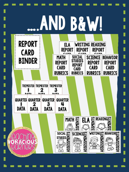 Report Card Binder