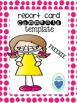 Report Card Comment Template