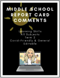Report Card Comments *All Subjects* | Covid Friendly