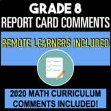 Report Card Comments - All Subjects & Learning Skills - Ontario - Grade 8