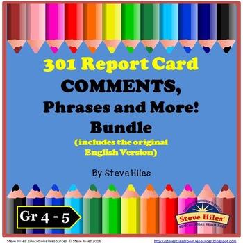 Report Card Comments BUNDLE: Volume #1