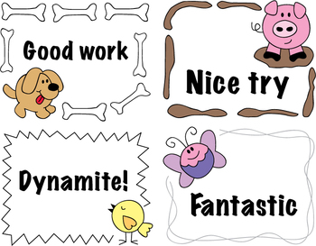 Report Card Comments English with Spanish Translation Reward Cards Freebie
