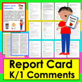 Report Card Comments Labels : 60 Comments: 20 Per Trimeste