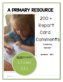 Report Card Comments- Primary