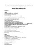 Report Card Comments Quarters 1-4