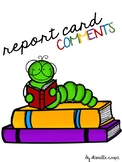 Report Card Comments (Reading, Writing, Listening, Speaking)