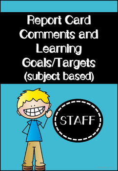 Report Card Comments - Subject Based