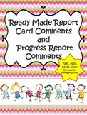 Report Card Comments for Teachers