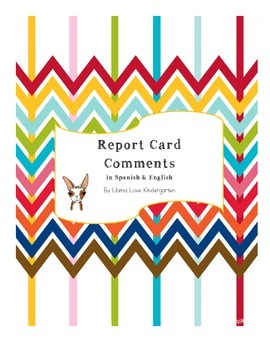 Report Card Comments in English and Spanish