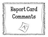 Report Card Comments * primary*