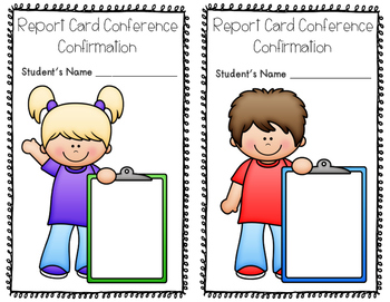 EDITABLE Report Card Conference Confirmation Sheet