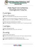 Report Card Conferences Prep Checklist