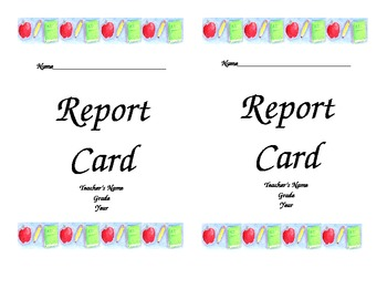 "Report Card Covers 9"" X 6"" Envelope Covers"
