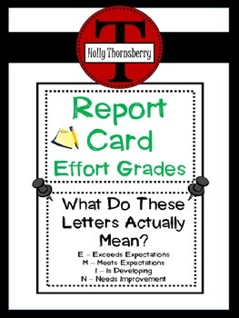 Report Card  Effort Levels