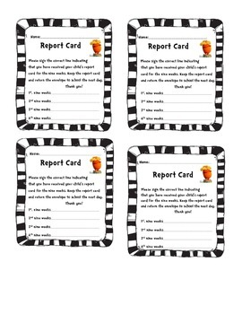 Report Card Envelope Labels Dr. Seuss Lorax