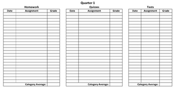 Report Card Template - Excel