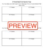 Report Card Parent Signature Page