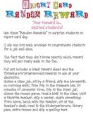 Report Card Random Rewards