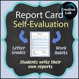 Report Card Self-Evaluation - Printable & Editable