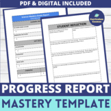 Report Card Template for Mastery