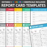 Report Card Templates Editable (B)