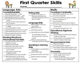 Report Card and ELA and Math Focus Skills Bundle